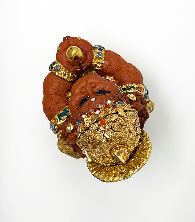 Brigitte Saugstad Hanuman Royal-10 ceramic statue, sculpture, idol, figurine, monkey G