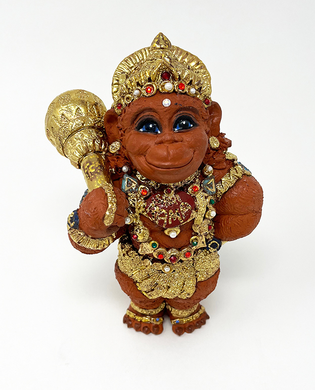 Brigitte Saugstad Hanuman Royal-8 ceramic statue, sculpture, idol, figurine, monkey A