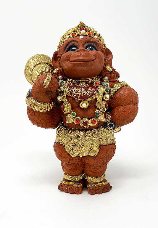 Brigitte Saugstad Hanuman Royal-8 ceramic statue, sculpture, idol, figurine, monkey B