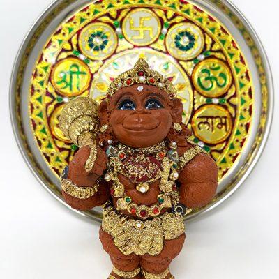 Brigitte Saugstad Hanuman Royal-8 ceramic statue, sculpture, idol, figurine, monkey G