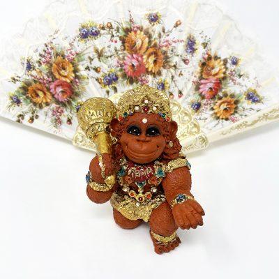 Brigitte Saugstad Hanuman Royal-9 ceramic statue, sculpture, idol, figurine, monkey A