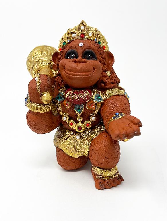 Brigitte Saugstad Hanuman Royal-9 ceramic statue, sculpture, idol, figurine, monkey B