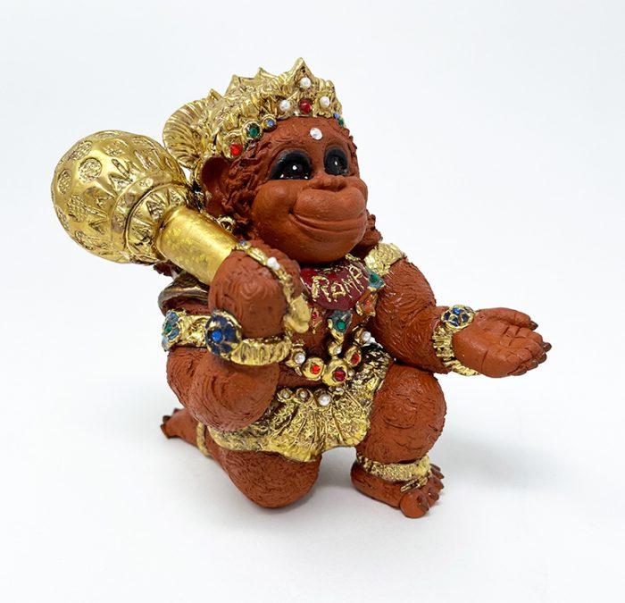 Brigitte Saugstad Hanuman Royal-9 ceramic statue, sculpture, idol, figurine, monkey C