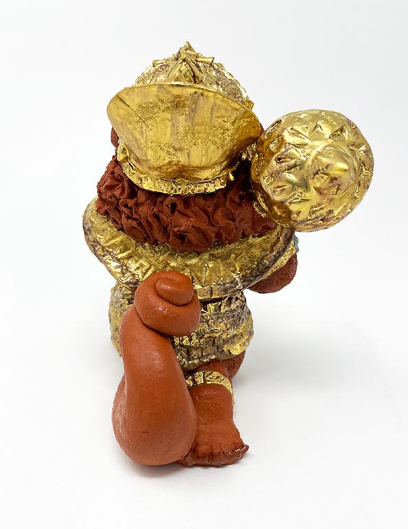 Brigitte Saugstad Hanuman Royal-9 ceramic statue, sculpture, idol, figurine, monkey D