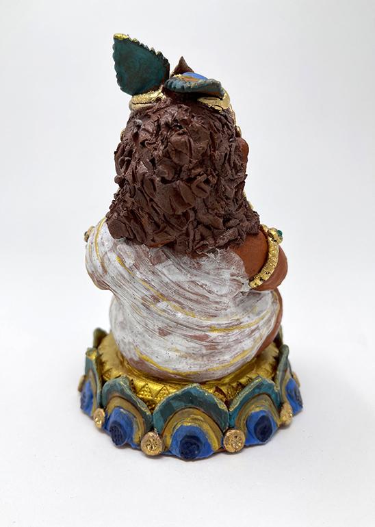 Brigitte Saugstad Krishna-1 ceramic statue, sculpture, idol, figurine D