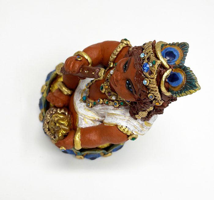 Brigitte Saugstad Krishna-1 ceramic statue, sculpture, idol, figurine F