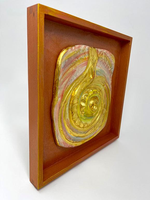 Brigitte Saugstad LIVING ENERGY Kundalini (relief wall hanging)-1 ceramic relief sculpture C