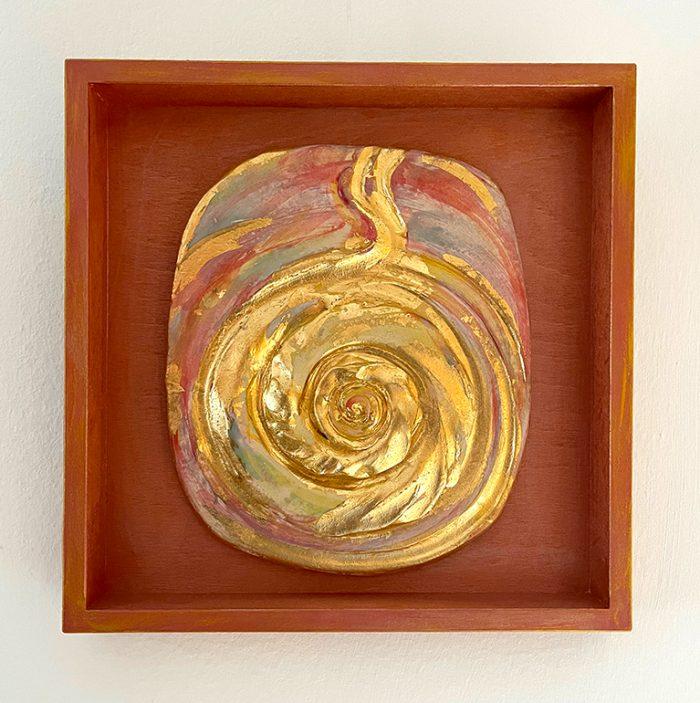 Brigitte Saugstad LIVING ENERGY Kundalini (relief wall hanging)-2 ceramic relief sculpture A