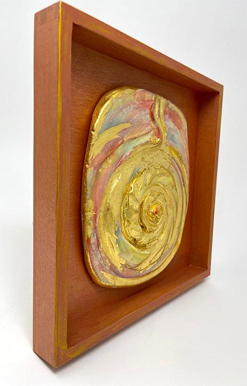 Brigitte Saugstad LIVING ENERGY Kundalini (relief wall hanging)-2 ceramic relief sculpture B