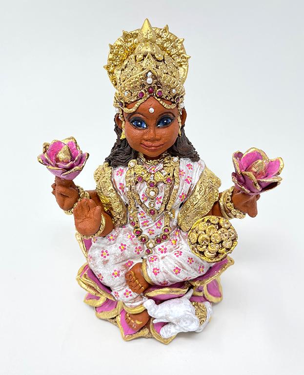 Brigitte Saugstad Lakshmi-1 ceramic statue, sculpture, idol, figurine A