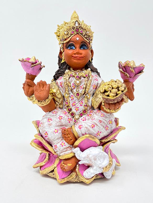 Brigitte Saugstad Lakshmi-1 ceramic statue, sculpture, idol, figurine B