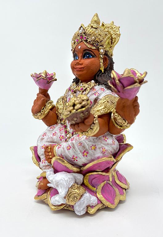 Brigitte Saugstad Lakshmi-1 ceramic statue, sculpture, idol, figurine C