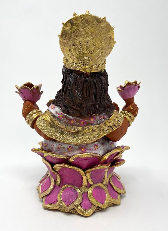 Brigitte Saugstad Lakshmi-1 ceramic statue, sculpture, idol, figurine D
