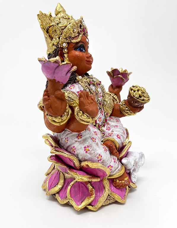 Brigitte Saugstad Lakshmi-1 ceramic statue, sculpture, idol, figurine E