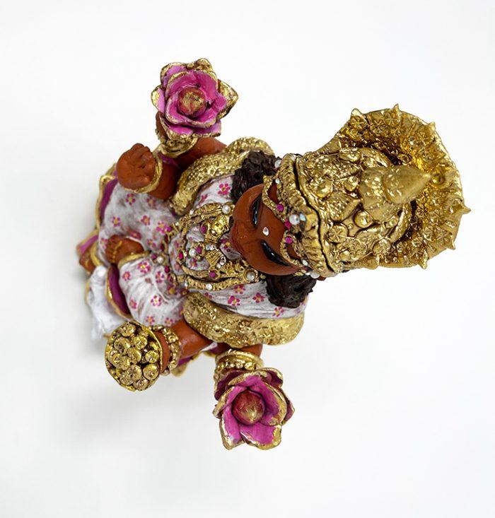 Brigitte Saugstad Lakshmi-1 ceramic statue, sculpture, idol, figurine F
