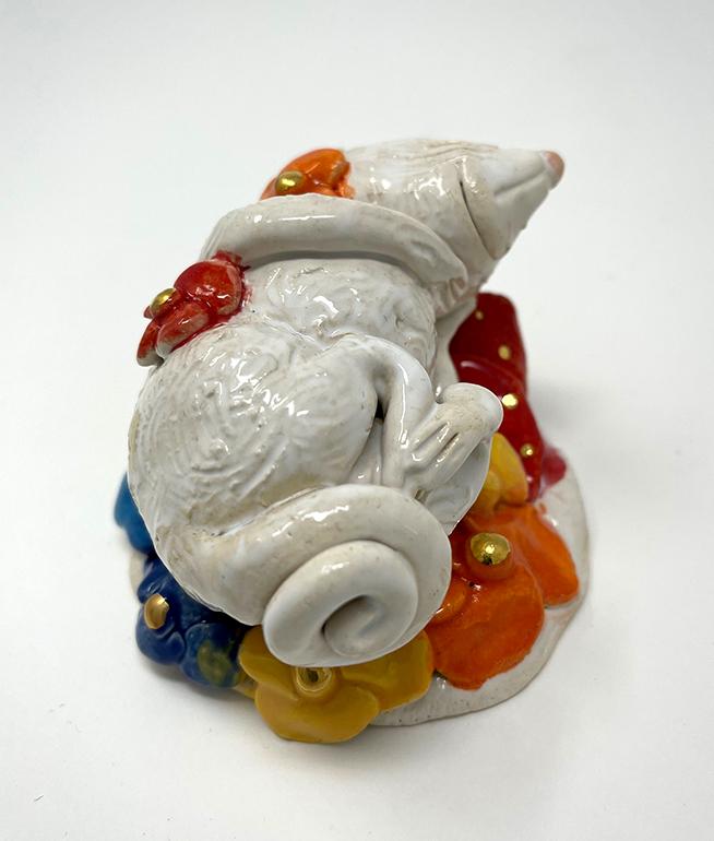 Brigitte Saugstad Mouse -13 ceramic statue, sculpture, idol, figurine C