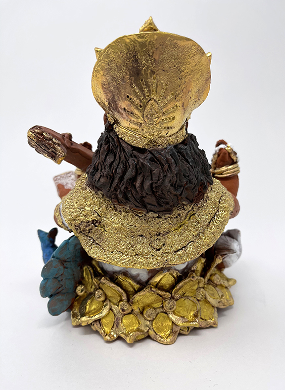 Brigitte Saugstad Saraswati -1 ceramic statue, sculpture, idol, figurine D