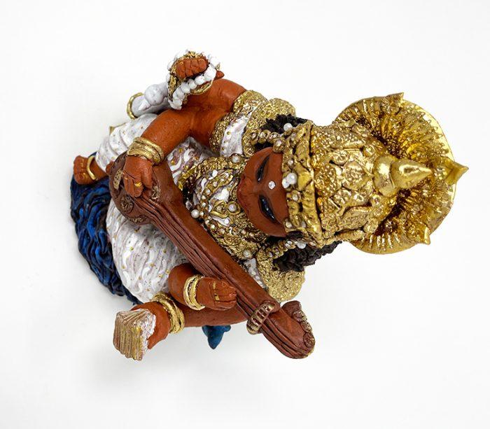 Brigitte Saugstad Saraswati -1 ceramic statue, sculpture, idol, figurine F