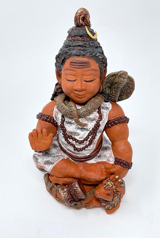 Brigitte Saugstad Shiva -1 ceramic statue, sculpture, idol, figurine A