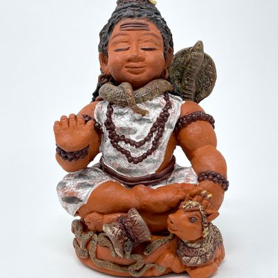 Brigitte Saugstad Shiva -1 ceramic statue, sculpture, idol, figurine B