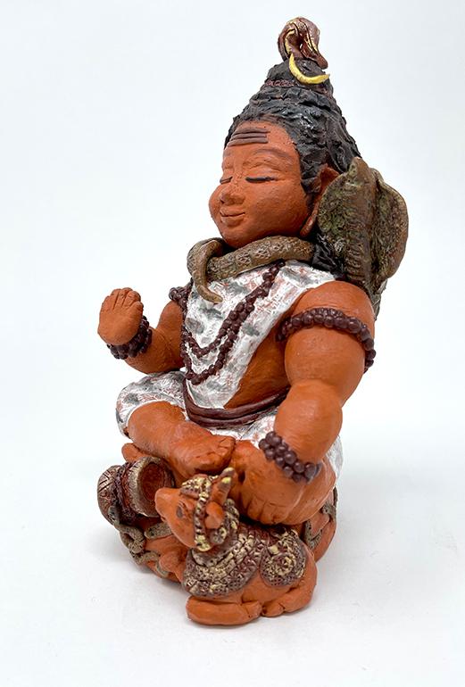Brigitte Saugstad Shiva -1 ceramic statue, sculpture, idol, figurine C