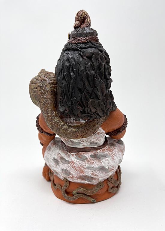 Brigitte Saugstad Shiva -1 ceramic statue, sculpture, idol, figurine D