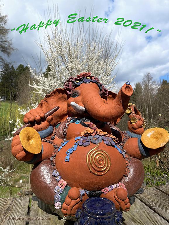 Brigitte Saugstad Ganesha statue Easter