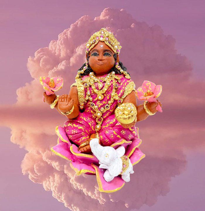 Brigitte Saugstad Lakshmi-2 ceramic statue, sculpture, idol, figurine A