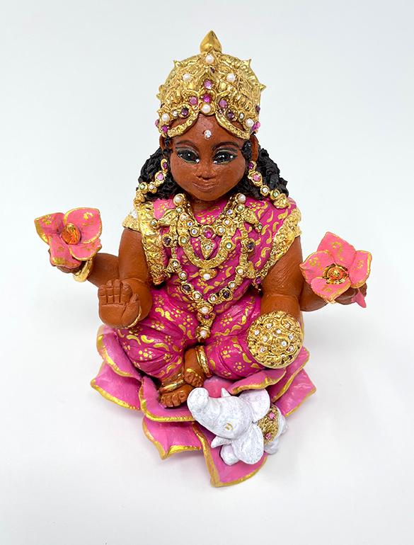 Brigitte Saugstad Lakshmi-2 ceramic statue, sculpture, idol, figurine B