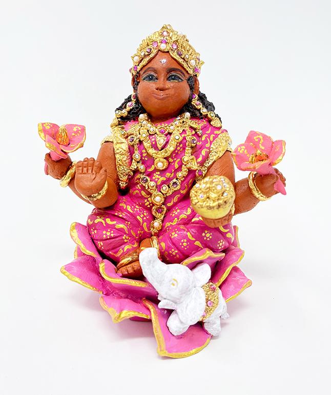 Brigitte Saugstad Lakshmi-2 ceramic statue, sculpture, idol, figurine C