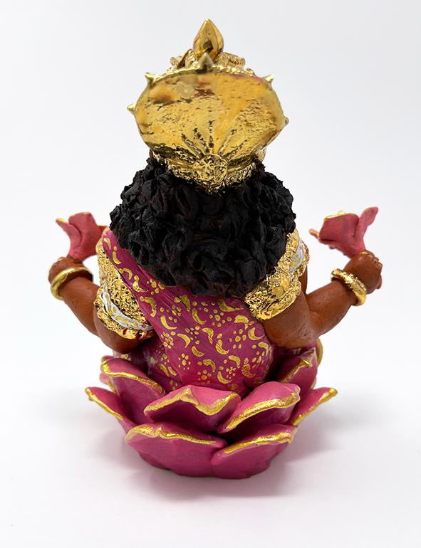 Brigitte Saugstad Lakshmi-2 ceramic statue, sculpture, idol, figurine E