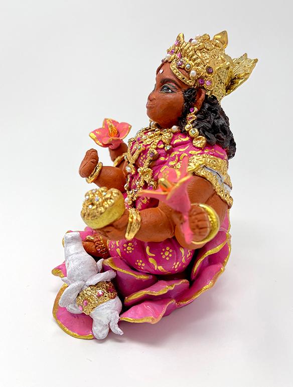 Brigitte Saugstad Lakshmi-2 ceramic statue, sculpture, idol, figurine F