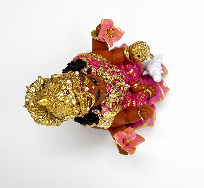 Brigitte Saugstad Lakshmi-2 ceramic statue, sculpture, idol, figurine G